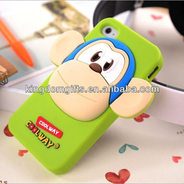 popular 3D Silicone big face monkey phone cover phone case