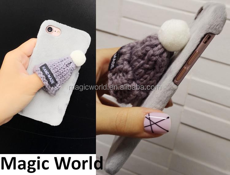 Handmade Cute Lovely Hat Fluffy For iPhone 7 Case