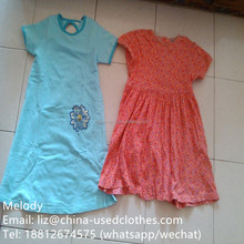 used clothes/ used children fashion blue dress