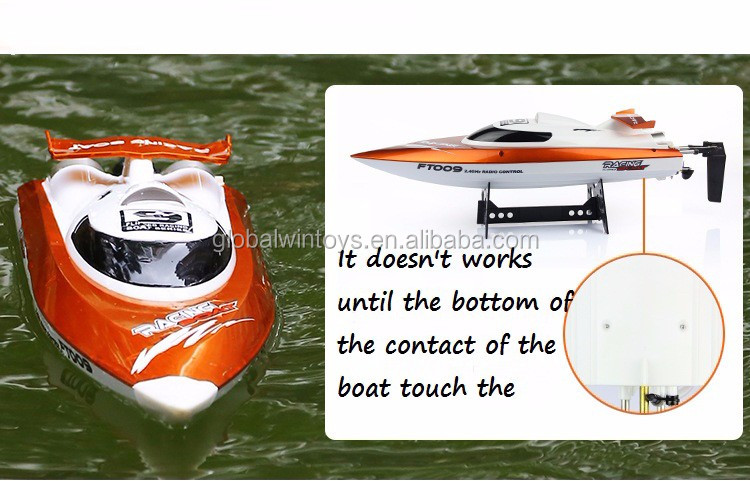 Water cooling system ft009 rc boat,4CH electric boat,plastic boat