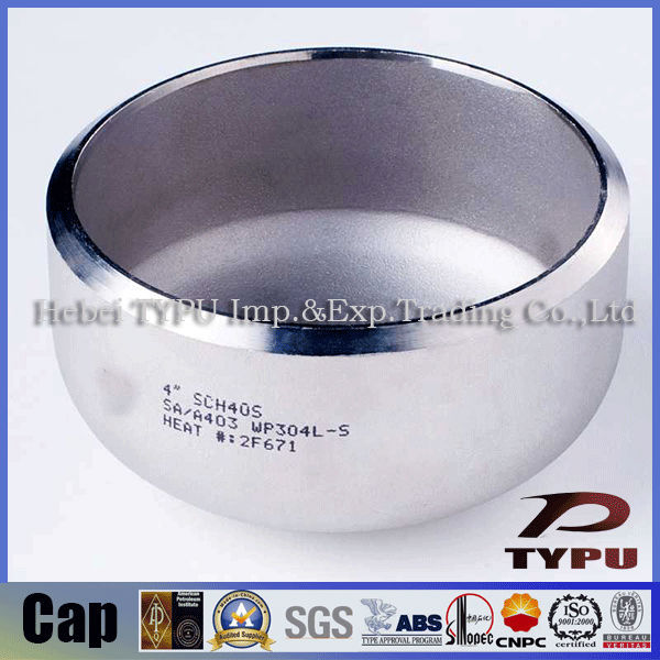 DN100 304ss DIN2617 stainless steel pipe cap