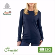 New model dry fit wholesale breathable tight ladies fancy long sleeve shirt