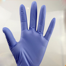 Disposable Cheap high quality non sterile latex examination nitrile gloves blue color