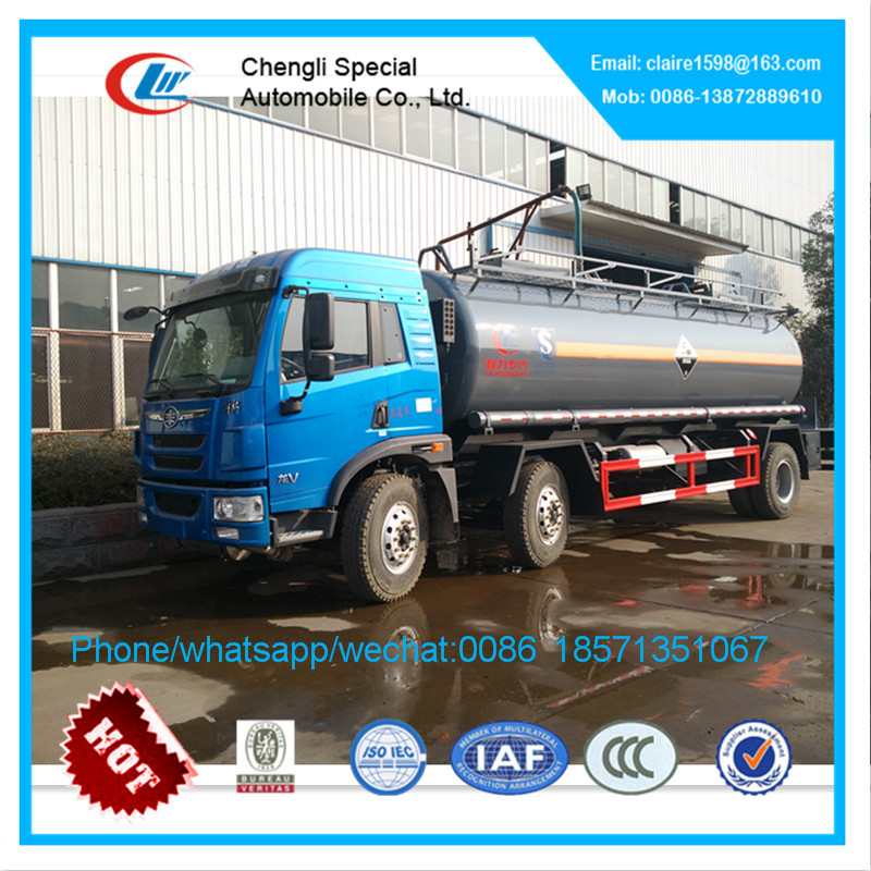 FAW 4*2 chemical liquid tanker truck fuel tanker truck for sale