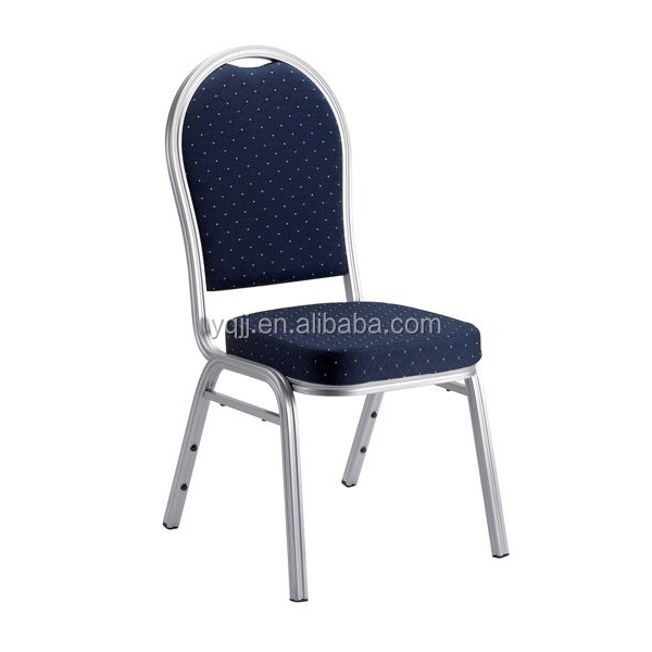 Stacking upholstered banquet chair for hall