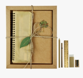 Eco notebook with pen pencil case set stationery supplies wholesale
