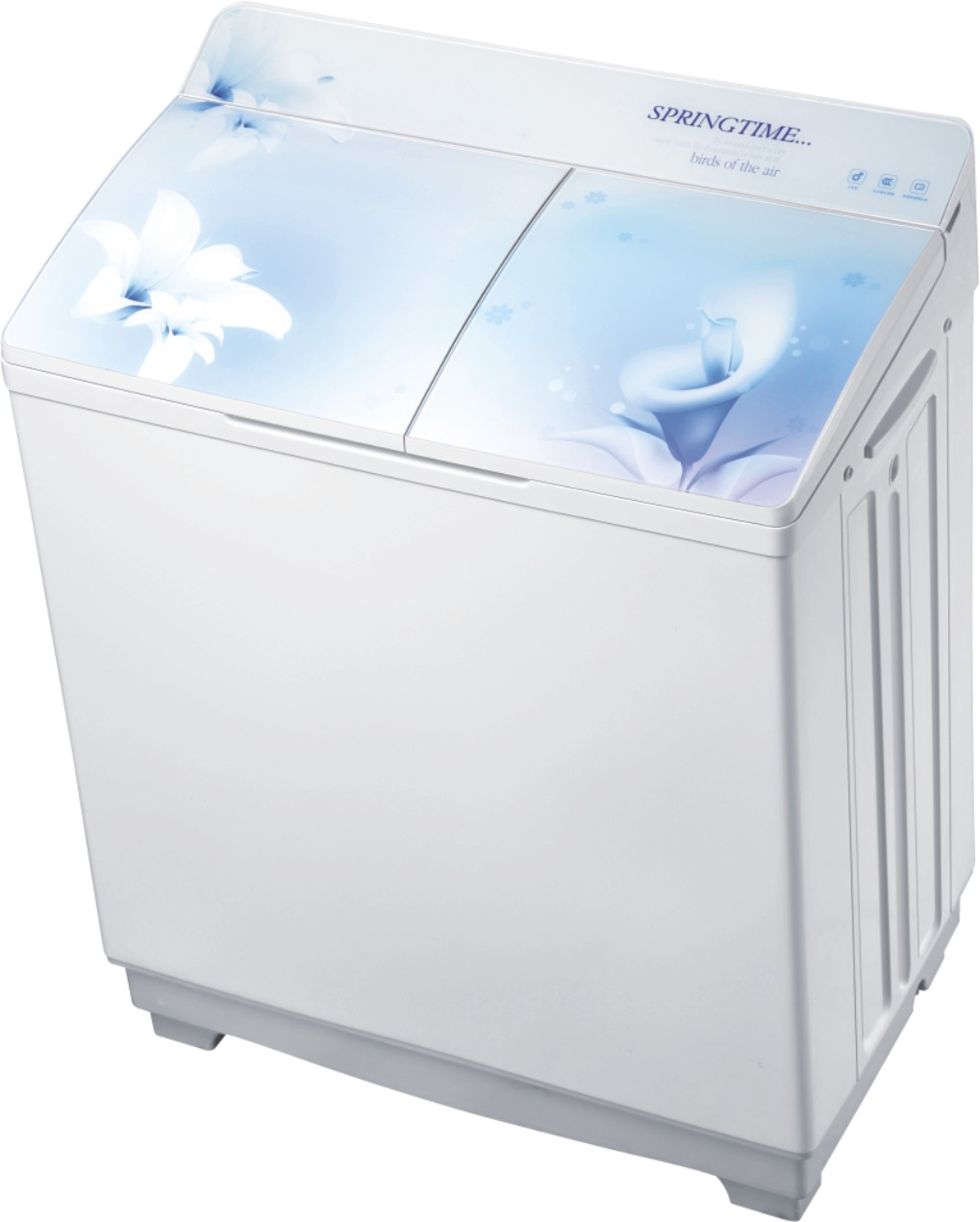 XPB95-8950S( flat tempered glass cover) twin tub washing machine