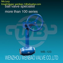 WB-123 pipeline long stem ball valve for low temperature