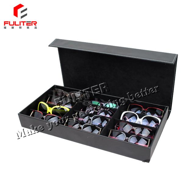 Decorative leather pu storage custom sunglass boxes