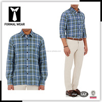 New arrving 100% Cotton custom tailor made long sleeves check shirt