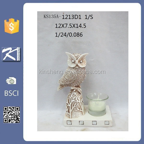 Wholesale newest polyresin owl home decor statue
