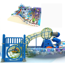 New design rainbow shooting air gun castle indoor soft playground for kids