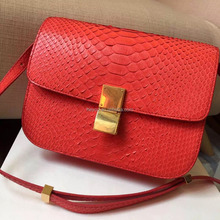 Heyco colored wholesale exotic animal skin python handmade leather lady bags bali