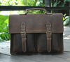 Functionally Custom Mens Genuine Leather Business Messenger Bags Briefcase