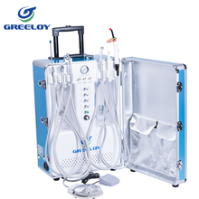 CE FDA available portable dental set inbuilt air compressor