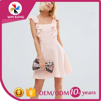 fashion party inspection OEM apparel manufacturer summer casual asymmetric dresses for women