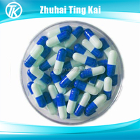 Size 0 gelatin hard blue white empty capsules