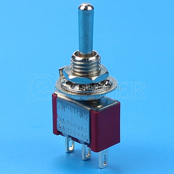 3-way on off on momentary toggle switch/3 pin toggle switch wiring/3-way guitar toggle switch