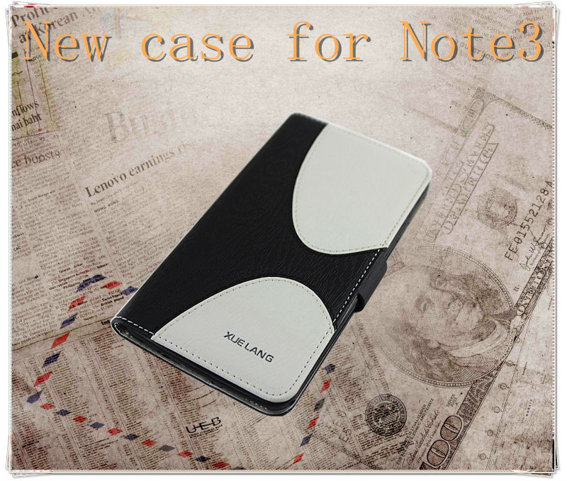 leather case note 3,flip case cover for note 3 galaxy android phone