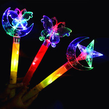 Glow Stick LED Light Stick Camping Decor Party Clubs Supplies Butterfly Stars Moon Crown Colorful Fluorescent for Party