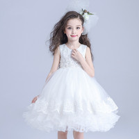 S31304W Children girls wedding dress kids ball gown and dresses