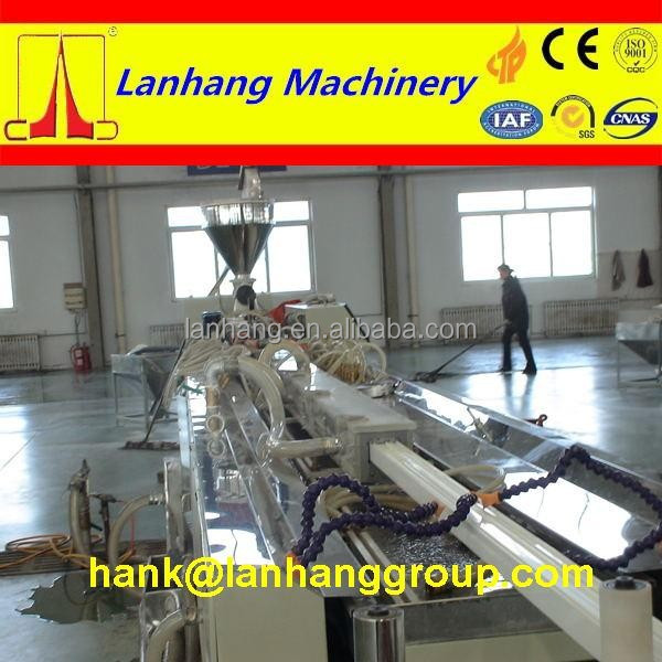 PVC Plastic Processed and Double/Twin-screw Screw Design plastic extruder machine