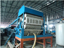 biodegradable waste paper recycling pulp egg tray egg carton cup rotary forming machine with single-layer drying line 6000pcs/hr