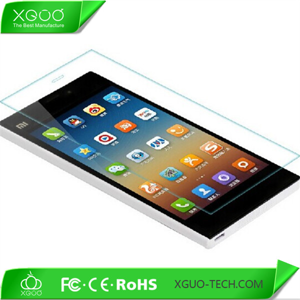 tempered glass protection screen for xiaomi mi3,mobile screen protector for xiaomi