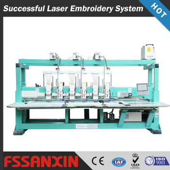 3+3 heads bead/sequin/laser cutting computer embroidery machine price