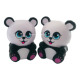 2019 hot selling pu stress ball cute panda shaped squishy soft toy cheap customized animal slow rising Toy stress reliever