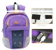 Wholesale custom outdoor solar power backpack, solar charger bag