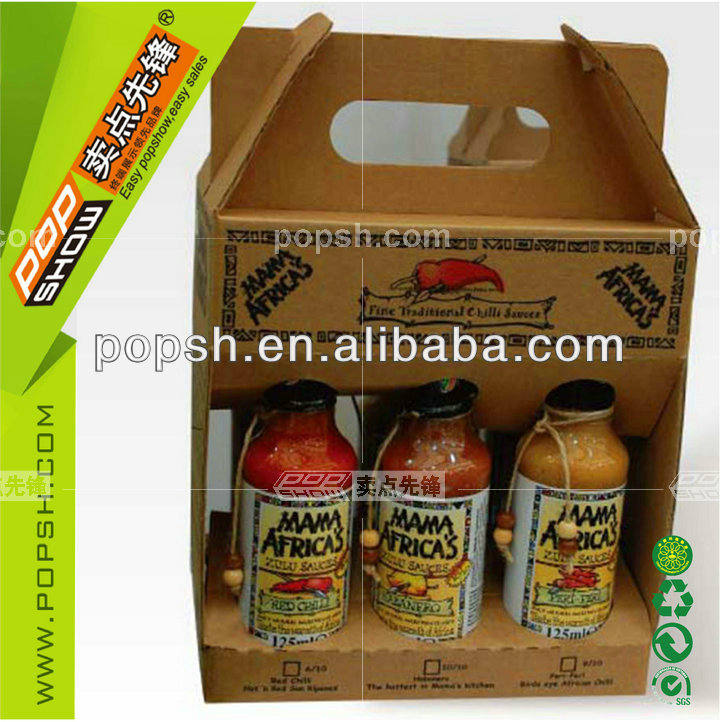 hot sale corrugated cardboard counter display shelf/package box for jam