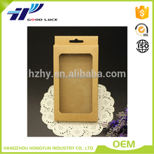Custom printed cell phone case packaging, mobilephone kraft paper box