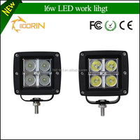 New product 16W LED Working Lights 9~32V DC IP67 for Heavy Duty Working Lights, Square Offroad LED Driving Head/Roof Light