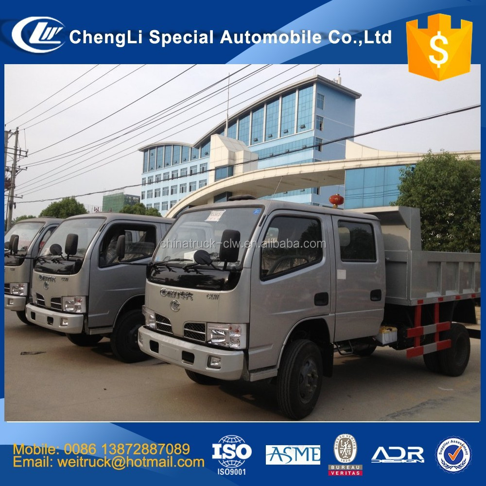 cheap Dongfeng right hand driving left hand driving 3 tons 5 m3 dump truck for sale in dubai