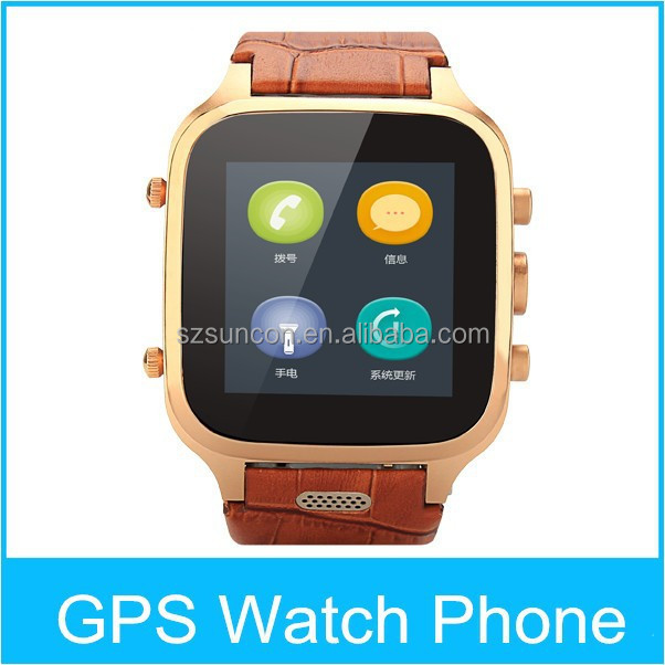 W9 Android 4.4 genuine leather waterproof smart bluetooth watch with unique features