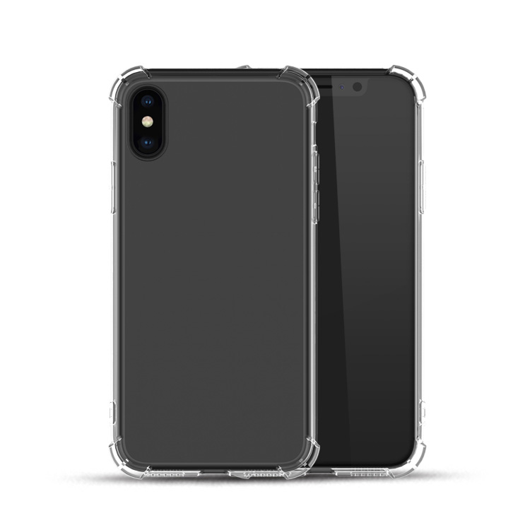 Saiboro anti shock air cushion tpu clear cell phone case for apple iphone x <strong>cover</strong>