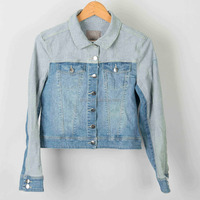 High quality fashion woman denim bomber jacket wholesale custom service