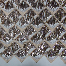 2018 Hot Sale/ High Quality Cheap Sequins Fabric /Tassels Swiss Voile Lace Embroidery