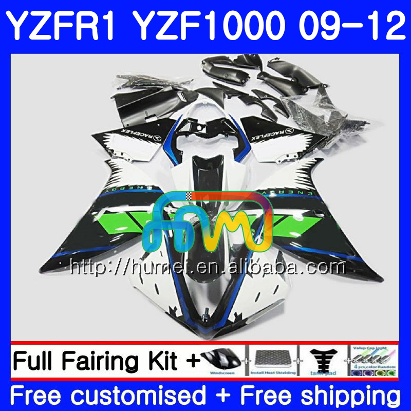 Body For YAMAHA YZF-<strong>R1</strong> YZF-1000 YZF <strong>R1</strong> <strong>09</strong> 10 11 12 gloss black 104HM53 YZF1000 R 1 YZF 1000 YZFR1 2009 2010 2011 2012 Fairing