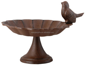 Metal cast iron bird decoration bird bath