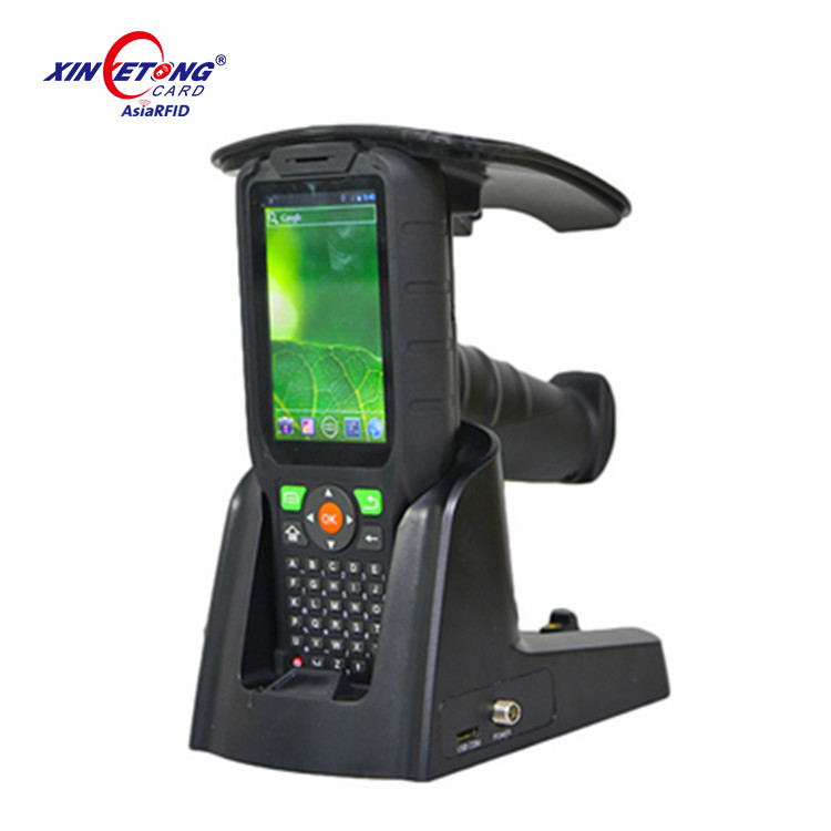 860-960Mhz Long range GPS UHF Handheld Android RFID Reader for access control system