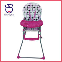 cheap metal foldable pvc eat baby dining chair and table