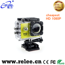 Relee cheapest HD 1080P extreme action sports camera with 30meter waterproof