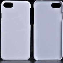 For iphone 7 White Blank Plastic Back Cover PC Case