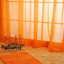"Hot Fully Stitched Curtain Solid Sheer Voile Window Panel Drapes 55""x84"" Orange curtains"