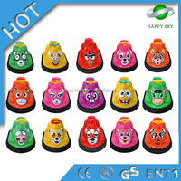 16 Animals outdoor amusment bumper cars for kids games,inflatable bumper car,bumper cars with player