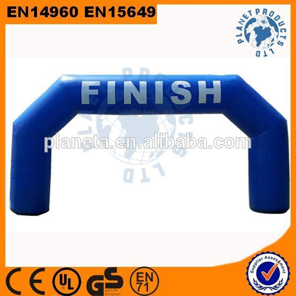 Customize Logo Outdoor Inflatable Finish Line Arch For Sport Event