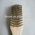 USA hot sale BBQ cleaning brush barbecue brush wooden handle stainless steel wire brush