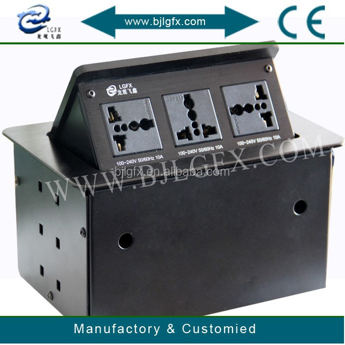 Electrical Office Equipment : Electrical desktop socket office furniture power outlets
